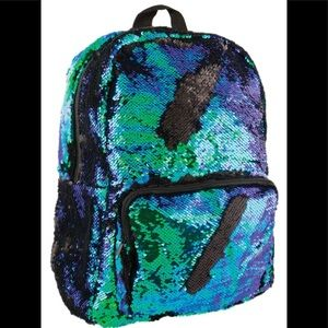 Mermaid Scale Flip Sequin Backpack Iridescent NWT